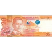 Filipinai. 2016 m. 20 pesų. P206k. UNC