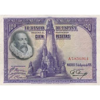 Ispanija. 1928 m. 100 pesetų
