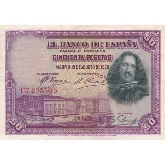 Ispanija. 1928 m. 50 pesetų