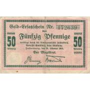 Įsrutis. 1918 m. 50 pfennigų