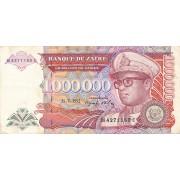 Zairas. 1992 m. 1.000.000 zairų