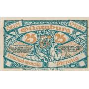 Gilgenburg / Dabrowno. 1920 m. 25 pfennigai. UNC