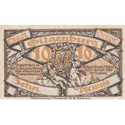 Gilgenburg / Dabrowno. 1920 m. 10 pfennigų. UNC