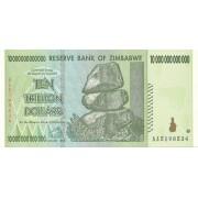 Zimbabvė. 2008 m. 10.000.000.000.000 dolerių. UNC