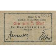 Klaipėda. 1917 m. 1/2 markės. RETAS