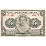 Liuksemburgas. 1944 m. 5 frankai