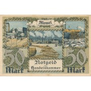 Klaipėda. 1922 m. 50 markių