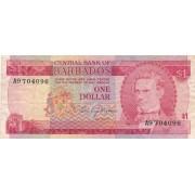 Barbadosas. 1973 m. 1 doleris