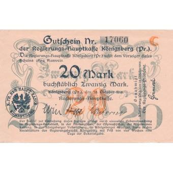 Karaliaučius. 1918 m. 20 markių