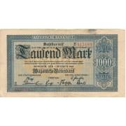 Vokietija / Miunchenas. 1922 m. 1.000 markių