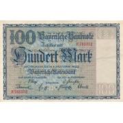 Vokietija / Miunchenas. 1922 m. 100 markių