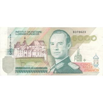 Liuksemburgas. 1996 m. 5.000 frankų
