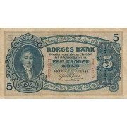 Norvegija. 1942 m. 5 kronos