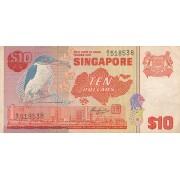 Singapūras. 1980 m. 10 dolerių