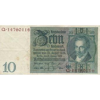 Vokietija. 1929 m. 10 markių