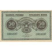 Suomija. 1918 m. 50 penių