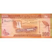 Šri Lanka. 2010 m. 100 rupijų