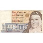Airija. 1999 m. 5 svarai