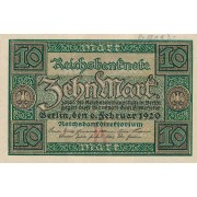 Vokietija. 1920 m. 10 markių