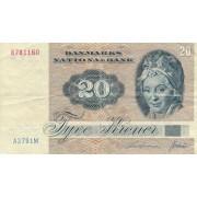 Danija. 1972 m. 20 kronų