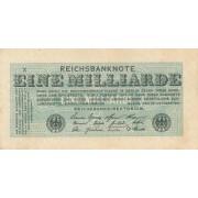 Vokietija. 1923 m. 1.000.000.000 markių