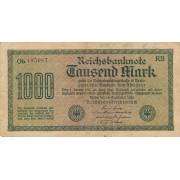 Vokietija. 1922 m. 1.000 markių