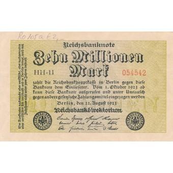Vokietija. 1923 m. 10.000.000 markių