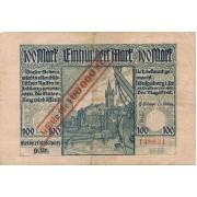 Karaliaučius. 1923 m. 100.000 ant 100 markių