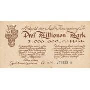 Karaliaučius. 1923 m. 3.000.000 markių. F