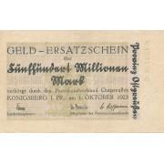 Karaliaučius. 1923 m. 500.000.000 markių