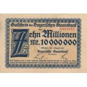 Vokietija / Miunchenas. 1923 m. 10.000.000 markių
