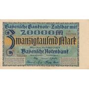 Vokietija / Miunchenas. 1923 m. 20.000 markių