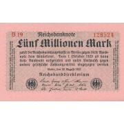 Vokietija. 1923 m. 5.000.000 markių