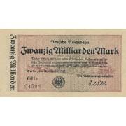 Vokietija. 1923 m. 20.000.000.000 markių