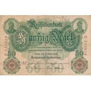 Vokietija. 1906 m. 50 markių