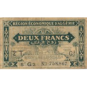 Alžyras. 1944 m. 2 frankai