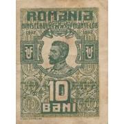 Rumunija. 1917 m. 10 bani