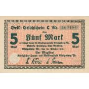 Karaliaučius. 1918 m. 5 markės