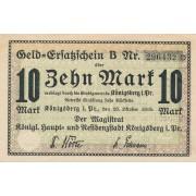 Karaliaučius. 1918 m. 10 markių