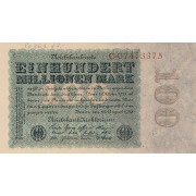 Vokietija. 1923 m. 100.000.000 markių