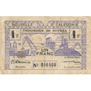 Naujoji Kaledonija. 1942 m. 1 frankas