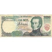 Venesuela. 1998 m. 2.000 bolivarų