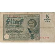 Vokietija. 1926 m. 5 rentenmarkės