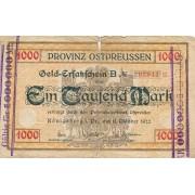 Karaliaučius. 1922 m. 1.000.000 ant 1.000 markių. F-