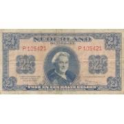 Nyderlandai. 1945 m. 2 1/2 guldeno