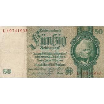 Vokietija. 1933 m. 50 markių