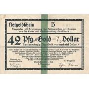 Gumbinė. 1923 m. 42 pfennigai. 6 skaičiai