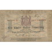 Prūsija. 1861 m. 1 taleris. F