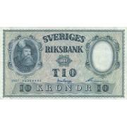 Švedija. 1957 m. 10 kronų
