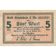 Karaliaučius. 1918 m. 5 markės. Perforuotas